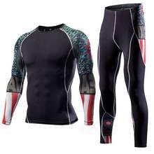 Мужчины лонг джонс фитнес зима quick dry gymming мужской весна осень спортивные работает тренировки thermal pro сжатия underwear sets(China (Mainland))