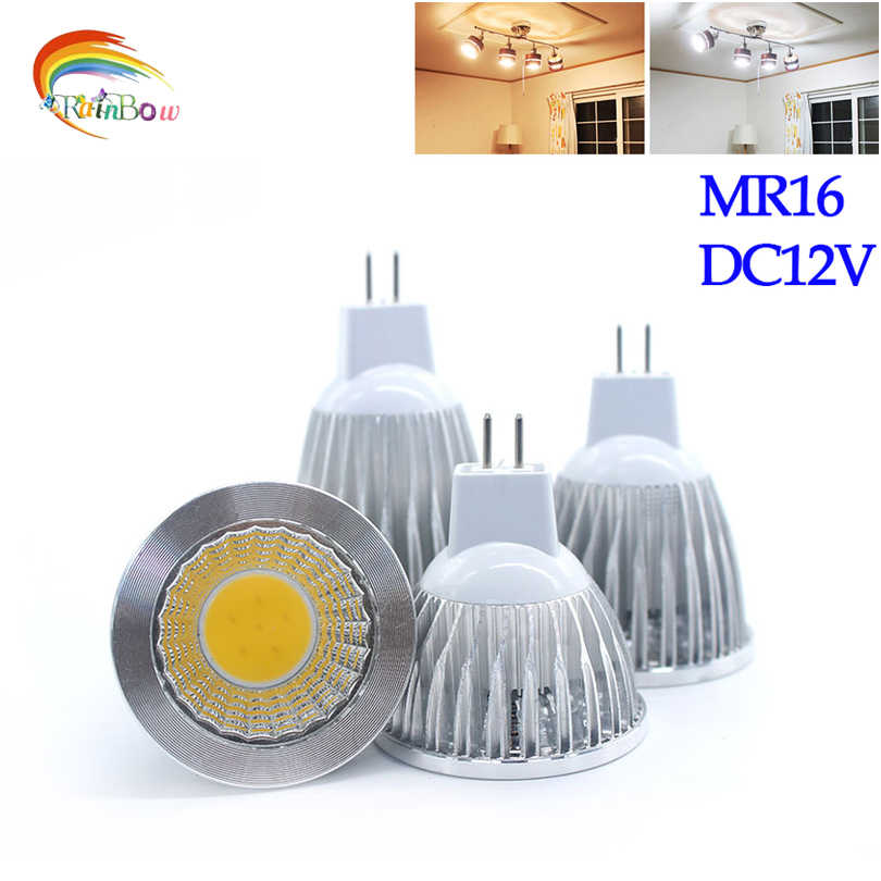 New COB CHIP  Lampada Led MR16 COB 9W 12W 15W Dimmable Led Cob Spotlight Warm Cool White MR 16 12V Bulb Lamp