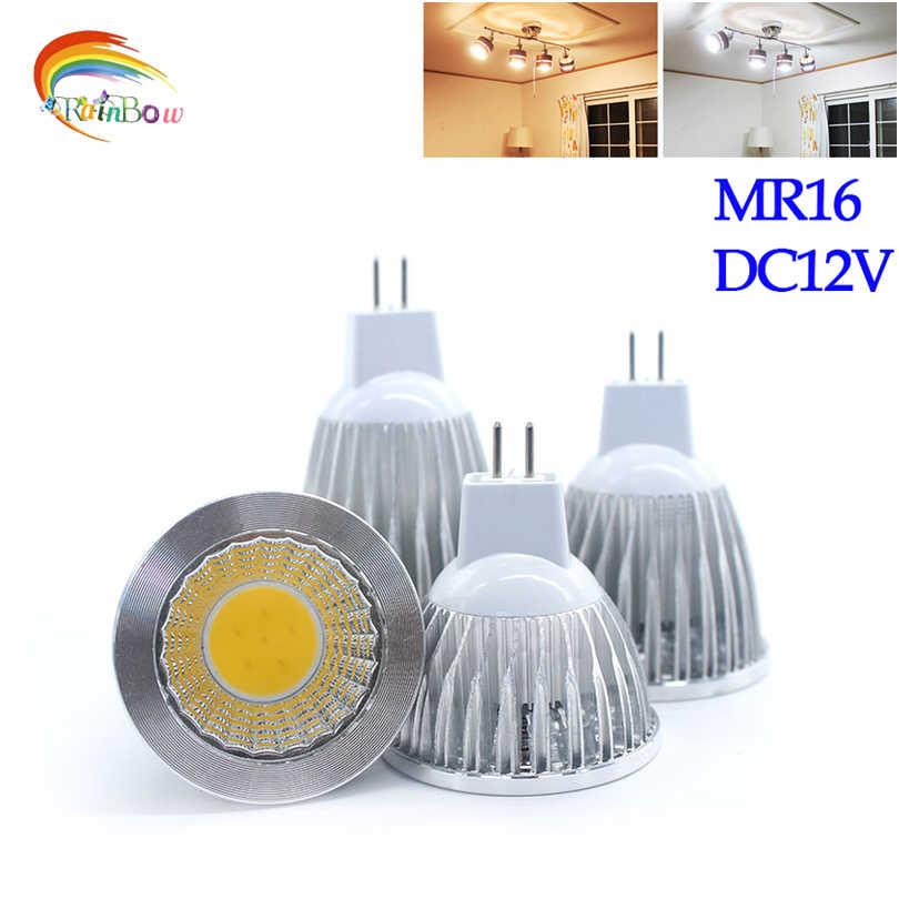 שבב COB חדש Lampada Led MR16 COB 9 W 12 W 15 W ניתן לעמעום Led Cob MR 16 12 V מנורת הנורה זרקור לבן מגניב חמה