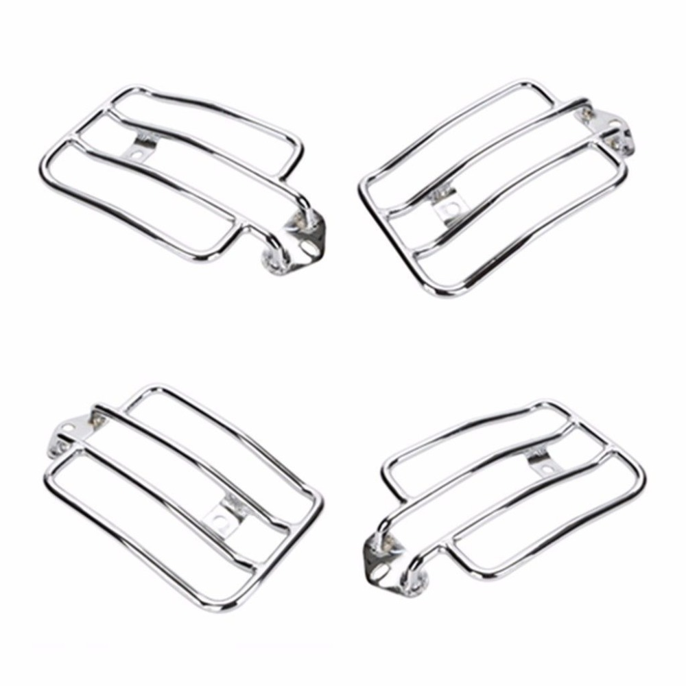 Motorcycle Chrome Solo Luggage Carrier Rear Fender Rack