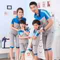 family matching outfits School uniforms Clothes Dad Mom Baby  T-shirt + short pants  2 pcs sets  Children's Clothing  T109