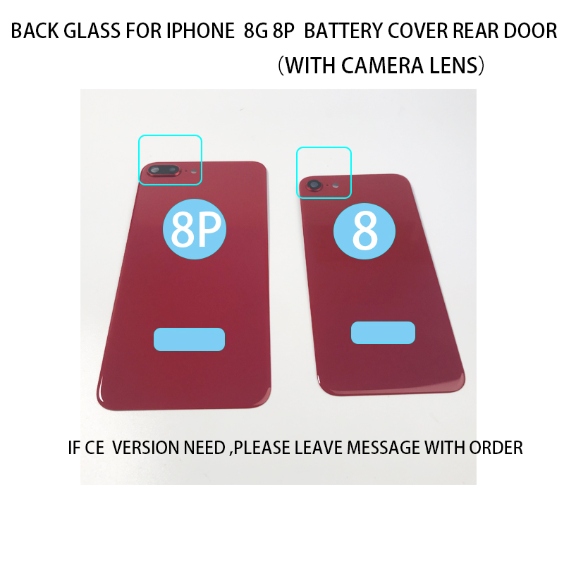 Cover Back-Glass iPhone 8 Door-Chassis-Frame Camera OEM for 8P Replace Rear with