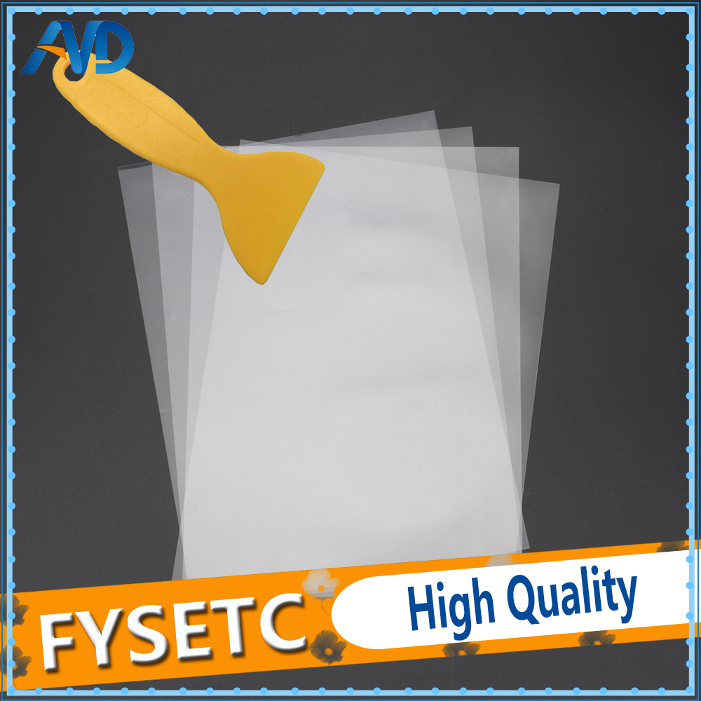 4 sheets FEP Film 140x200mm x 0.1mm DLP LCD SLA Resin 3D Printer For Elegoo Mars Wanhao Duplicator D