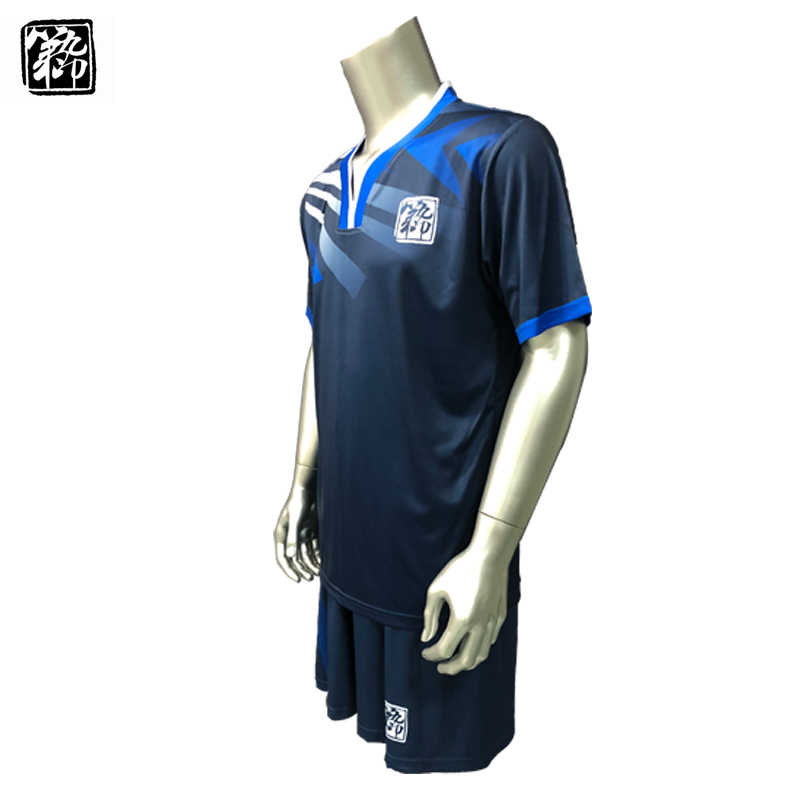 5ec29790485 ... Free Shipping New 17 18 Nice Blue Color Men s Soccer Jerseys Sets Can  Customize Name Soccer ...