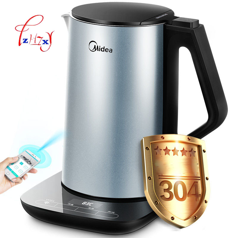 Intelligent WIFI Electric Kettle Hot Insulation In Stainless Steel Special Tea Pot Electric Water Kettle WHE1507B 1PC homeleader 7 in 1 multi use pressure cooker stainless instant pressure led pot digital electric multicooker slow rice soup fogao