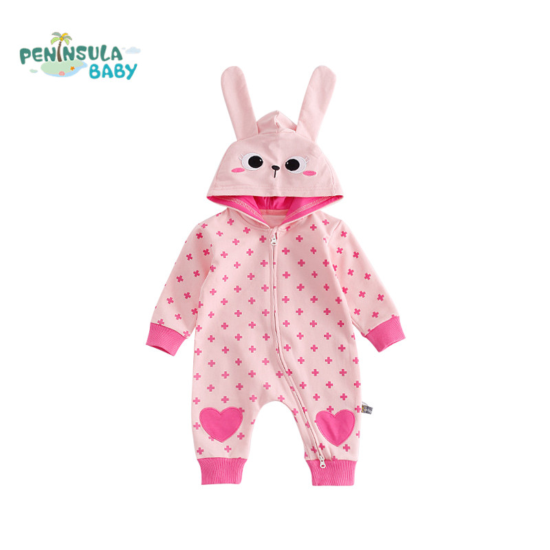 Newborn Baby Clothes Animal Hooded Baby Rompers Zipper Long Sleeve Girl Clothing Autumn Baby Boy Jumpsuits Roupas Infant Costume cotton baby rompers set newborn clothes baby clothing boys girls cartoon jumpsuits long sleeve overalls coveralls autumn winter