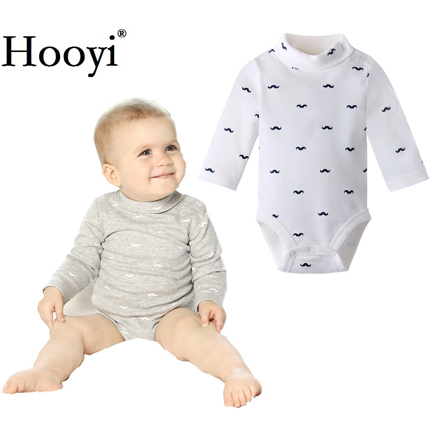 Mustache Baby Boy Bodysuits 100% Cotton Newborn Jumpsuits Babies One-Piece Clothing Turtleneck Infant 0-3 Years Infants Top Soft