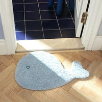 Whale carpet for kid Microfiber Cute Cartoon Animal Dolphin Shaped Non Slip Bathroom Kitchen Floor Rug Carpet Mat for Kid's Room