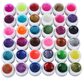 New Arrival 36 Mixed Colors Glitter UV Gel Polish Soak Off Top Coat for Nail Art False Tips
