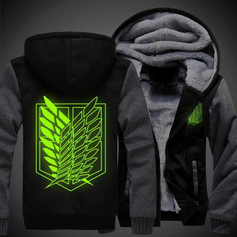 Attack on Titan Shingeki no Kyojin Scouting Legion Cosplay Hoodie Coat Men Women Warm jacket Winter casual hoodies Sweatshirt