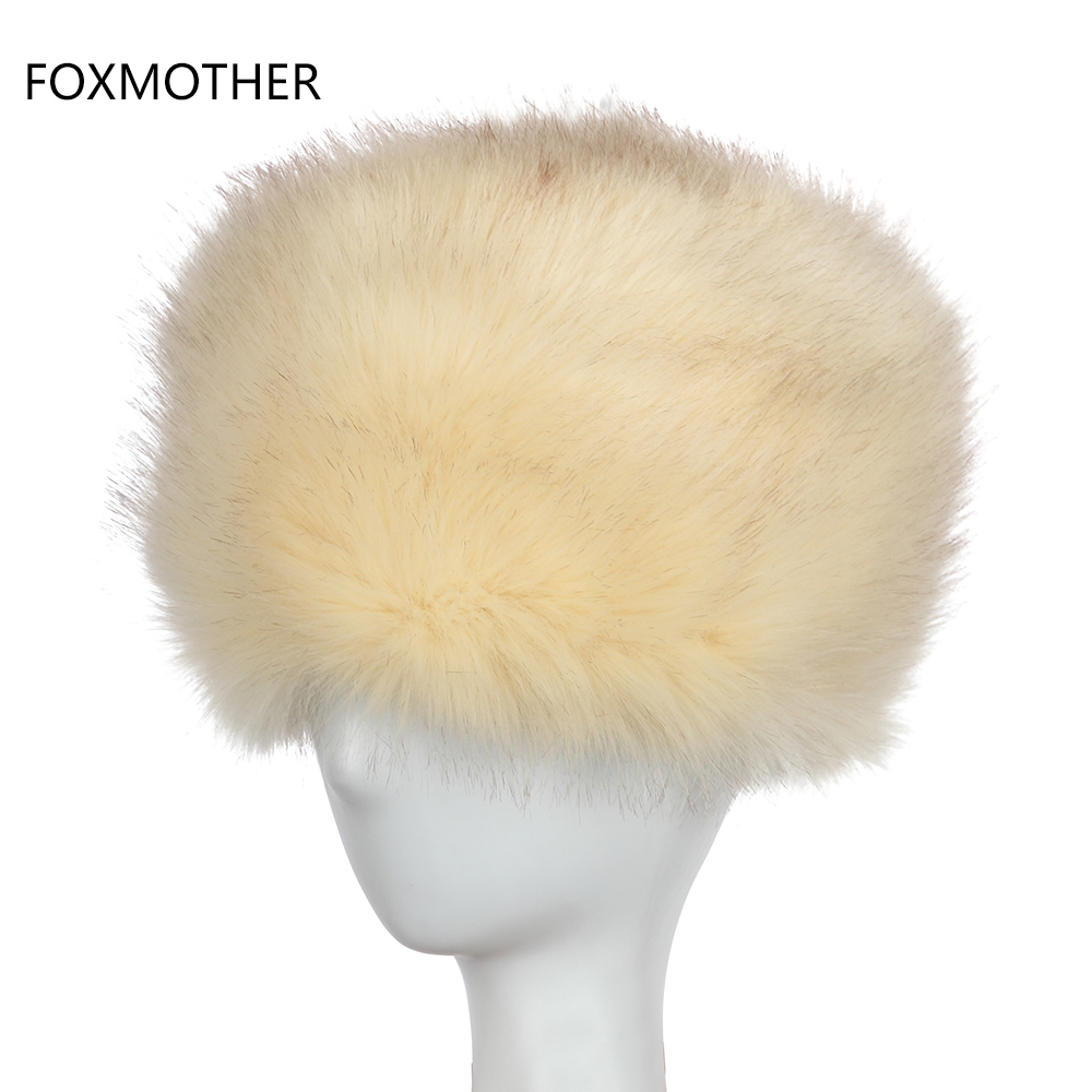 FOXMOTHER New Fashion Winter Unisex Warm Faux Fur Fox Hats For Womens Mens