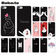 Babaite EXO kpop Сердце черный белый рисунок ТПУ Прозрачный чехол для телефона чехол для iPhone 5 5Sx 6 7 7plus 8 8Plus X XS MAX XR