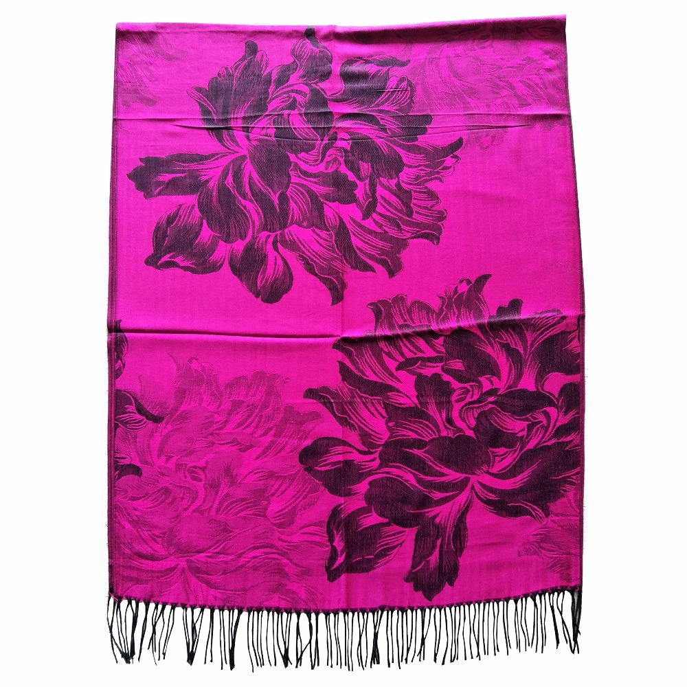 mujer pashmina scarfs   wraps   long scarfs bufandas invierno silk shawls luxury soft   scarf   feather paisley jaccquard stole