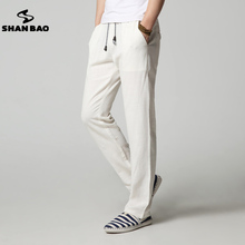 SHAN BAO brand high quality thin section loose linen casual pants