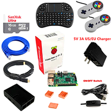 Promo offer Raspberry Pi 3 Model B 16GB RetroPie Game Console Kit with 2pcs SNES Gamepads Controllers