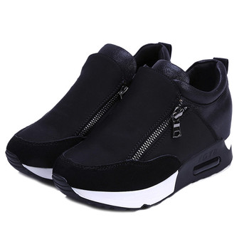 a3643a55befe 2018 Running Hiking Thick Bottom Platform Wedges Shoes Woman sports  Sneakers Spring Autumn Fashion Ladies black