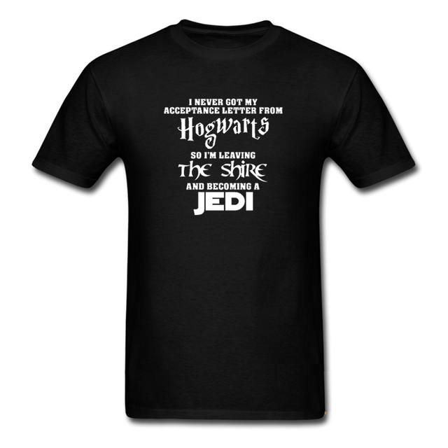 Hogwarts Lord Of The Rings Jedi Star Wars Men'S Harajuku T Shirt The Hobbit Men Letter Print Hispter Shirts Tops