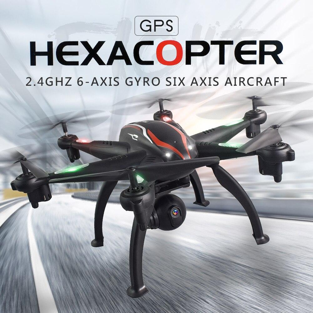 Grande Ragazzo Giocattoli Dispositivo Fresco Macchina Fotografica grandangolare 1080 HD della Macchina Fotografica WIFI FPV Follow Me 6 Assi RC Quadcopter selfie Drone Regalo Speciale SY24