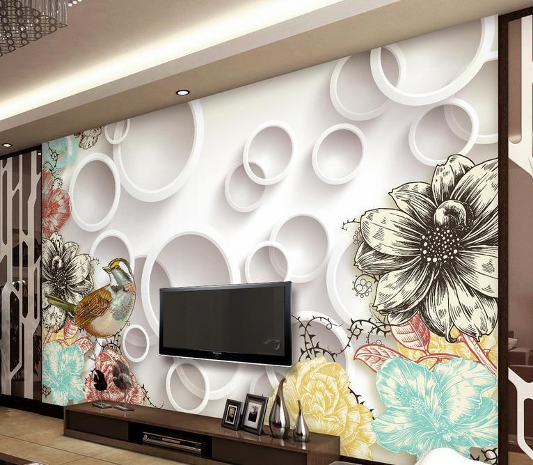 Online kopen Wholesale behang vogels ontwerp uit China behang ...