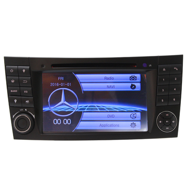 Radio Free map RDS FM AM For Mercedes W211 Car DVD Player GPS Navigation Bluetooth Wince6.0 Steering Wheel Control Video Audio