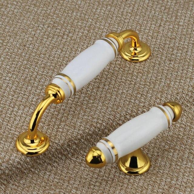 128mm moderne mode goldene küchenschrank schrank türgriffe weiß gold ...