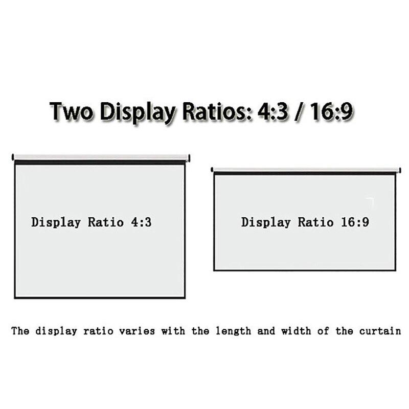 Thinyou 100 inčni 16: 9 bela tkanina prenosni talni zaslon talni - Domači avdio in video - Fotografija 2