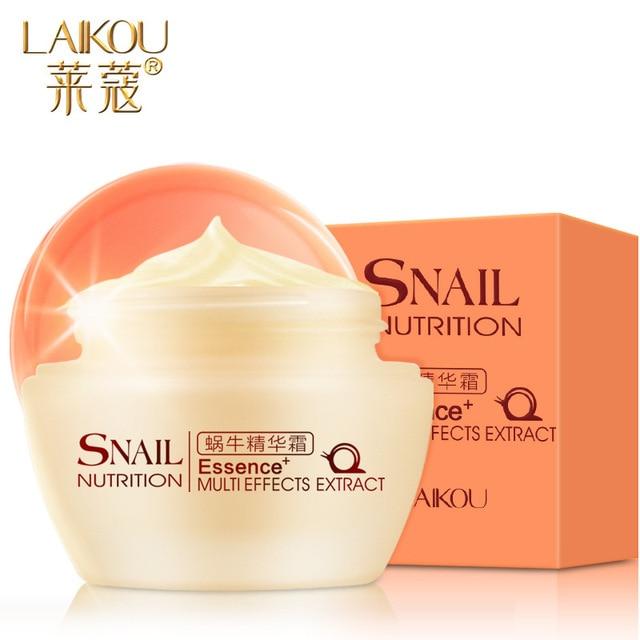 Lai Kou snail cream moisturizing cream 50g moisturizing anti-wrinkle skin whitening female beauty dilute smallpox in India