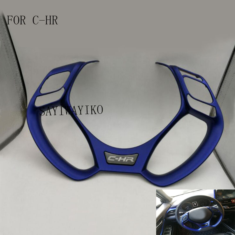 CAR STYLING ABS car stickers steering wheel decoration cover car accessories FIT for 2016 2017 2018 Toyota C-HR CHR C HRCAR STYLING ABS car stickers steering wheel decoration cover car accessories FIT for 2016 2017 2018 Toyota C-HR CHR C HR