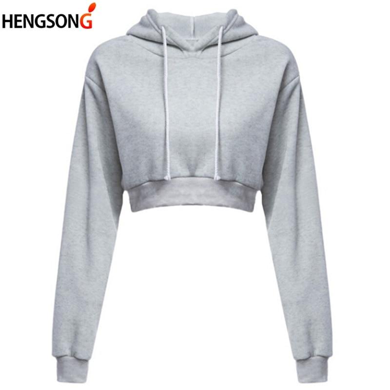 Fashion Women's Long Sleeve Hooded Top Black Grey Sweatshirt Ladies Harajuku Pullover Hoodies Sweatshirt Autumn Winter Clothes