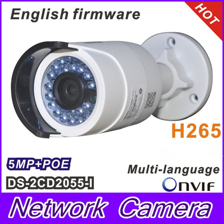 2017 HiK New Multi-Language Version PoE IP Camera DS-2CD2055-I 5 Megapixel Bullet Surveillance Camera Lens 4mm Support H.265 hik multi language ds 2cd6412fwd camera ds 2cd6412fwd c2 poe pinhole covert separated network camera for shop home surveillance