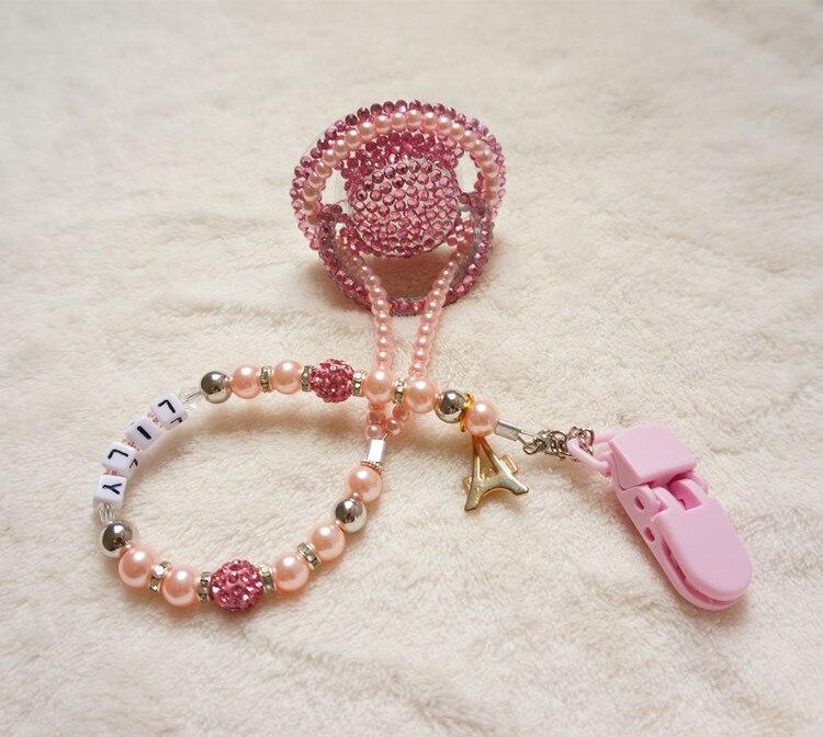 Chaud! rose princesse fait à la main en cristal strass tétine - Nourrir - Photo 2