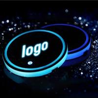 2X Led Car Cup Holder logo Light For Toyota BMW Audi Ford Volkswagen Skoda Honda Mazda Hyundai KIA luminous coaster Accessories