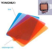 YONGNUO LEVOU Luz De Vídeo YN300III Difusor Filtro Azul Laranja Difusor para YongNuo YN300 II YN300 III painel de vídeo lâmpada
