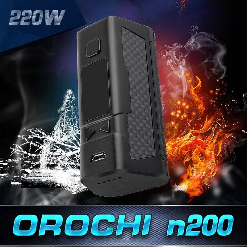 Original Orochi 220W TC Box Mod Vape mod Elektronik Sigara With Dry coil Protection OLED Screen