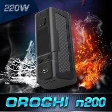 Оригинальный Orochi 220 Вт TC поле mod VAPE mod elektronik пикантная закуска sigara с сухим защиты катушки OLED Экран