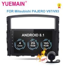 YUEMAIN автомобиля Радио мультимедийный плеер для Mitsubishi PAJERO V97 V93 2Din Android 8,1 автомобильное радио с GPS навигации видео-и аудиорегистратор WI-FI