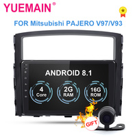 YUEMAIN Car Cassette DVD Multimedia player For Mitsubishi PAJERO 4 V97 V93 2din Android 8.1 Radio GPS Navigation Rear Camera
