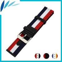 Nylon Nato Leather Watch Band 22mm 24mm For Citizen Canvas Fabric Strap Wrist Loop Belt Bracelet