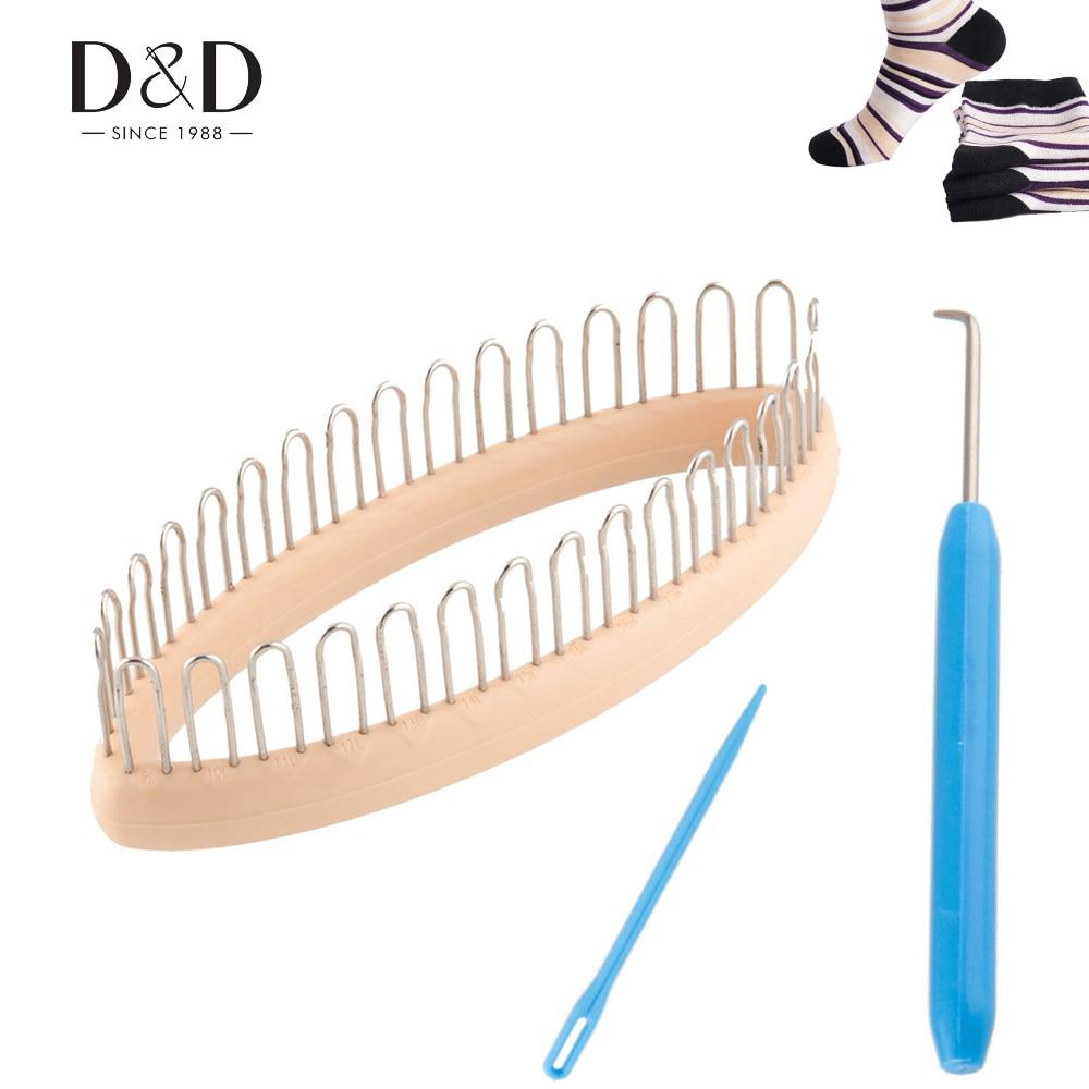 Knitting Tools List : D set portable knitting loom craft diy tool