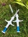 100pcs FREE SHIPPING RFID Microchip syringe with transponder 2.12x12mm FDX-B free ICAR number