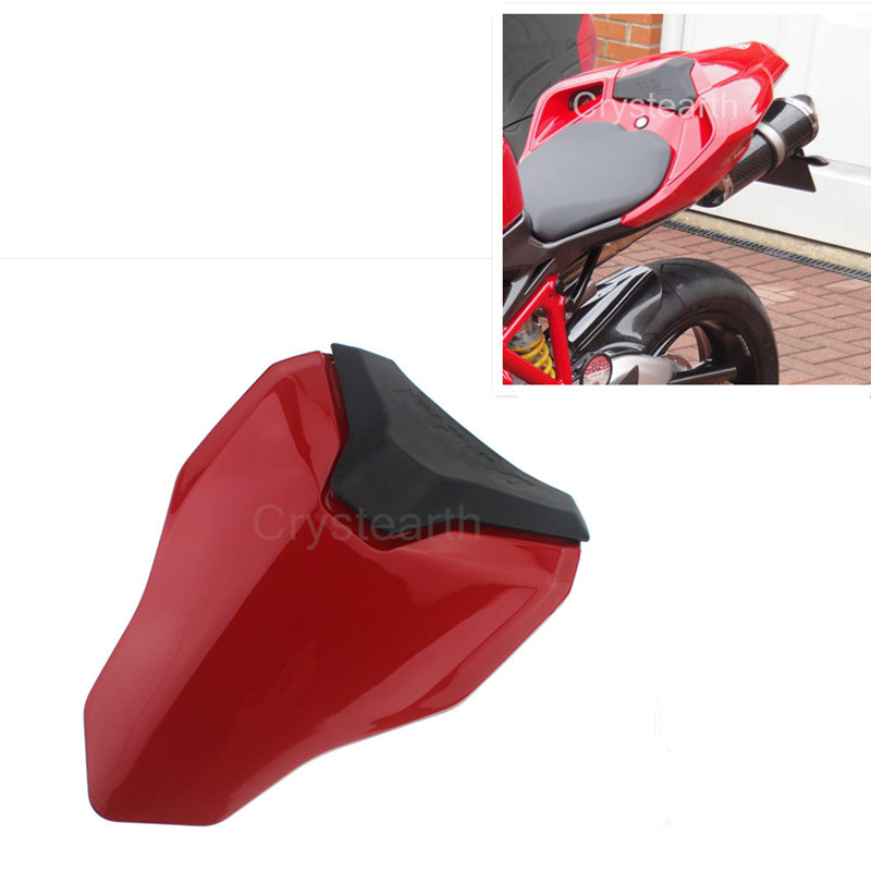 Motorcycle Rear Seat Cowl Cover Motorbike Rear Solo Seat Fairing Cover For Ducati 848 1098 1198 All Year 2008 2009 2010 2011 12