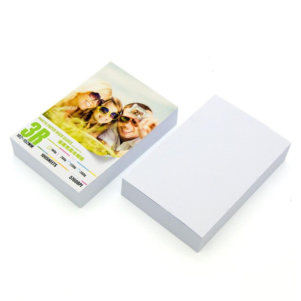 100Pcs/Lot Glossy Printing Paper Photographic Paper Printer Photo Paper Photo Convenient Printer