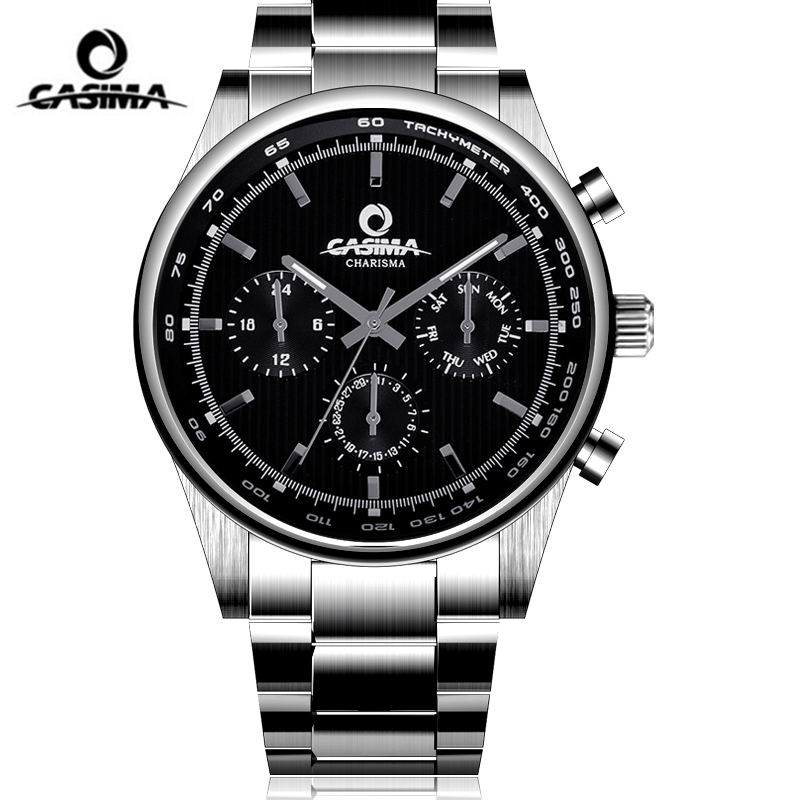 CASIMA Charm Luminous Business Watch Men Luxury Brand Mens Waterproof Week Date Quartz Wrist Watch Clock Saat Relogio Masculino casima brand week date mechanical watch men sapphire crystal business automatic wrist watch waterproof clock relogio masculino