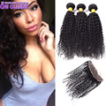 Queen Glamour Malaysian Curly Hair With Closure Curly Long Hair Weaving 3pcs Lace Frontal Curly 13x4 Lace Frontal With Bundles