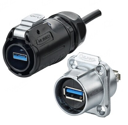 Pairs of Sealed USB Plug and Socket IP67 Waterproof USB3.0 Zinc Alloy Connector Clamping Clock  Outdoor weather resistance brijesh yadav and rakesh kumar soil zinc fractions and nutritional composition of seeded rice