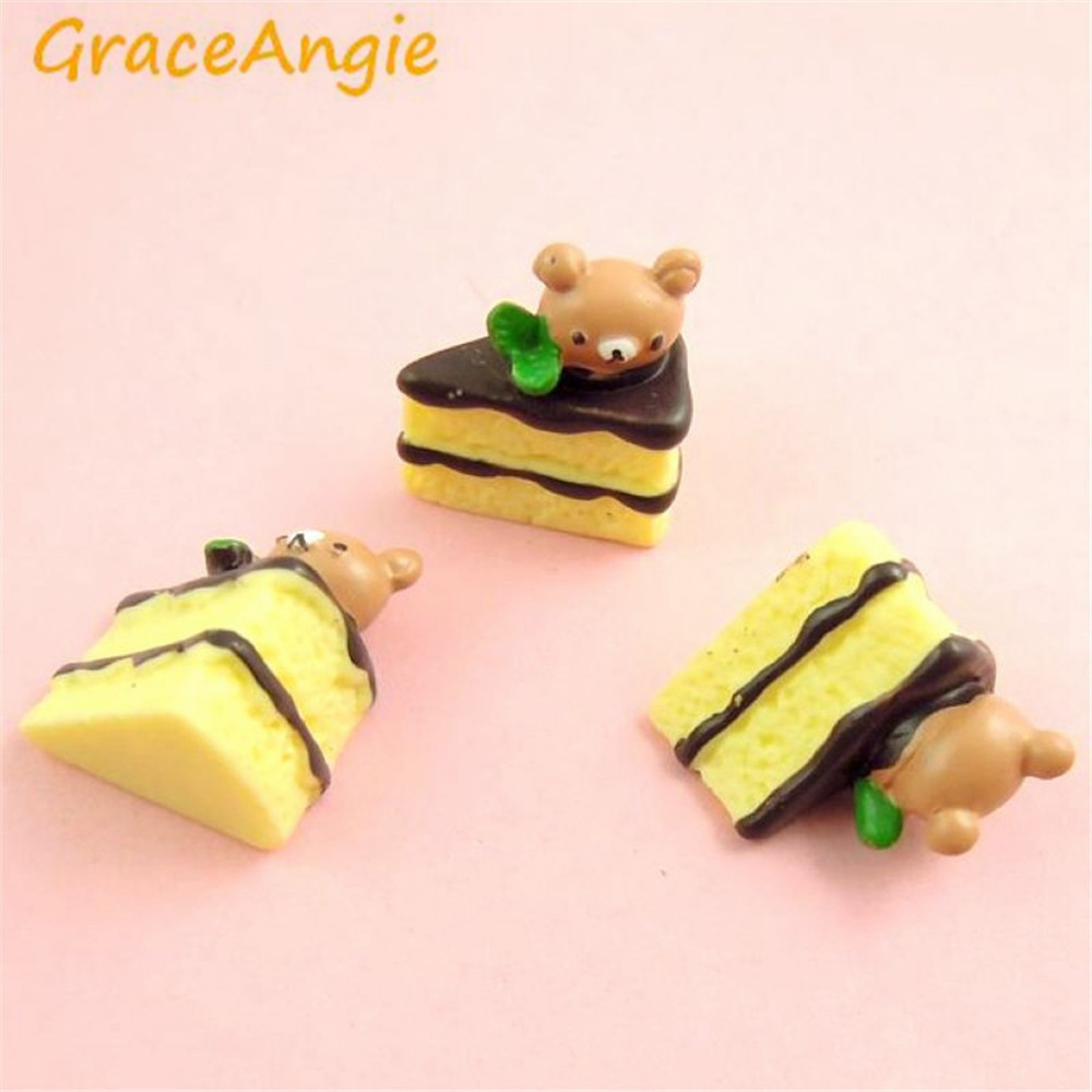 25pcs Hot Sale Modern Resin Yellow Bread Bear Shape Accessary Jewelry Cute Charms Handma ...