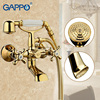 GAPPO 1SET Antique Vintage Telephone Style Wall Mount Bathtub Sink Faucet Spout Two Cross Handle Bathroom