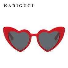b75aa2523 KADIGUCI الأزياء الحب القلب النظارات الشمسية النساء القط العين النظارات  الشمسية خمر الحب القلب على شكل نظارات السيدات UV400 K805