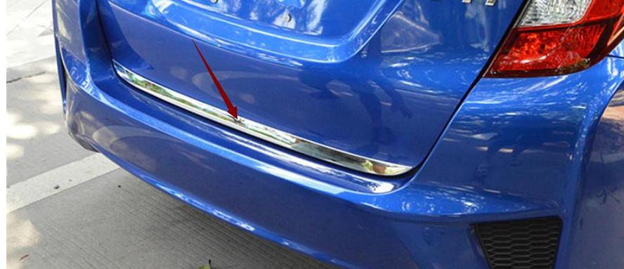 For Honda Fit jazz 2014 2015 2016 2017 Car Styling body Rear door tailgate bumper frame plate trim lamp trunk Lid 1pc