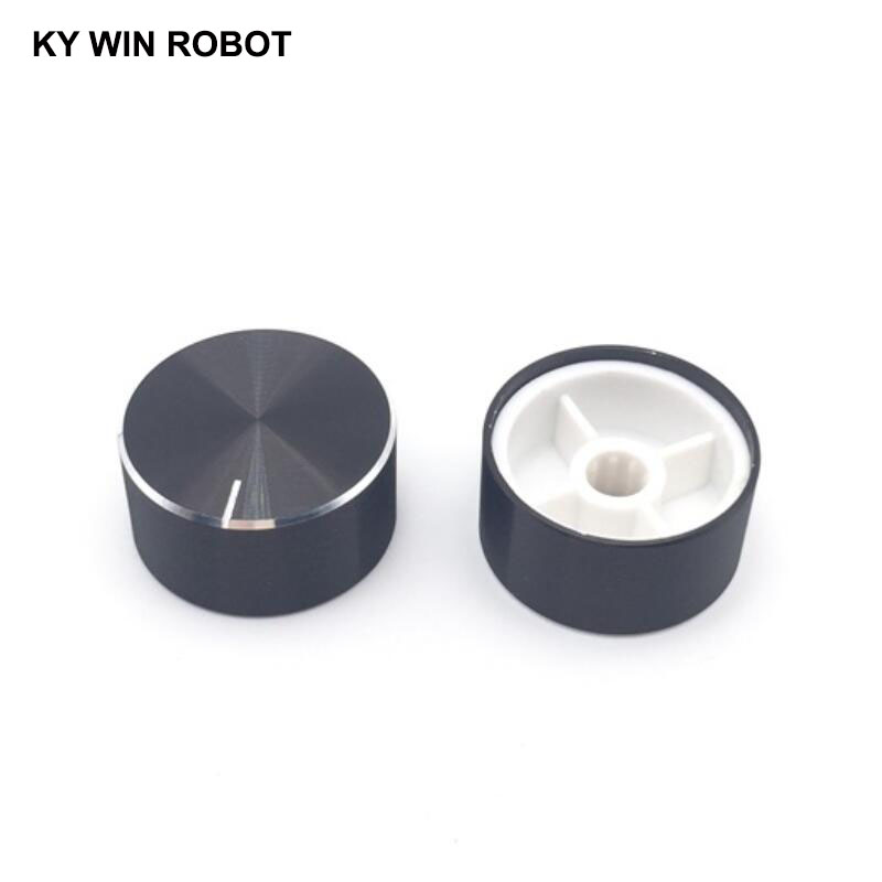 1 pcs 25x13mm Aluminum Alloy Potentiometer Knob Black
